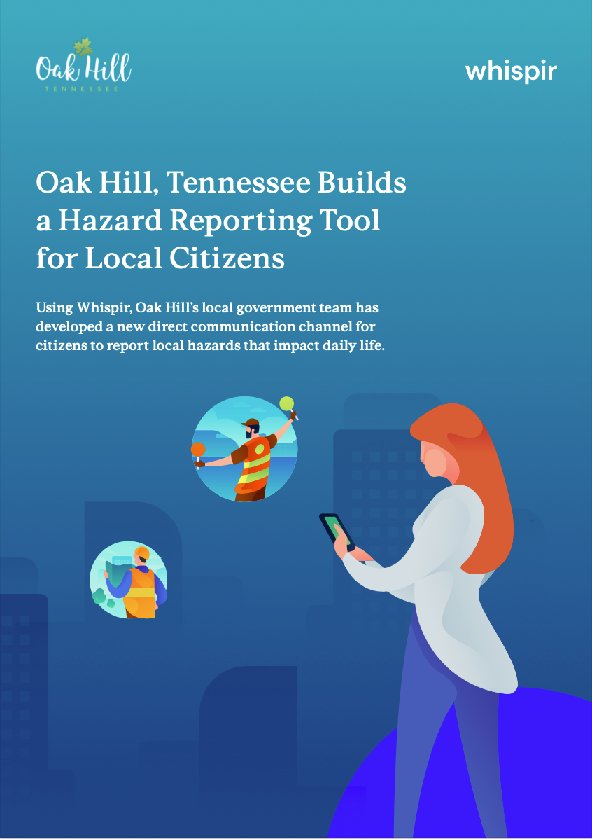 Oak Hill, Tennessee Builds a Hazard Reporting Tool for Local Citizens Image